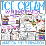 Ice Cream Math Addition and Money Problem Based Learning PBL