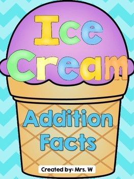 Ice Cream Addition - Math Center