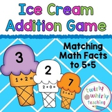 Addition Matching Game to 5+5