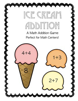 Ice Cream Addition Math Game