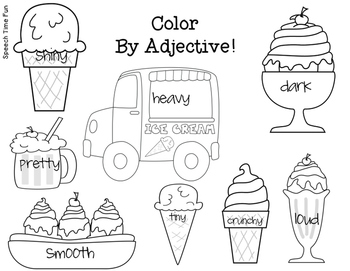 Ice Cream Adjectives