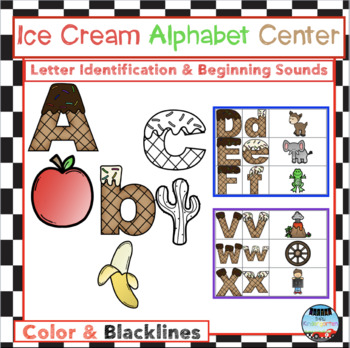 Ice Cream Alphabet Center