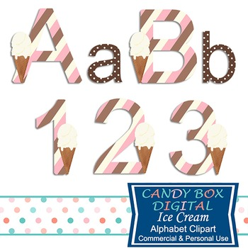 Ice Cream Alphabet Clip Art
