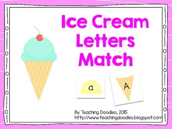 Ice Cream Alphabet Letters Match
