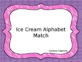 Ice Cream Alphabet Match