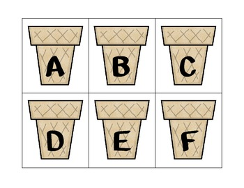 Ice Cream Alphabet Match-Up