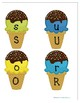Alphabet Match-Up Game and Worksheets - Ice Cream