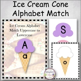 Ice Cream Alphabet Match Uppercase to Lowercase