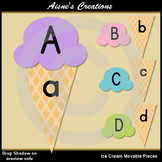 Ice Cream Alphabet Movable Pieces