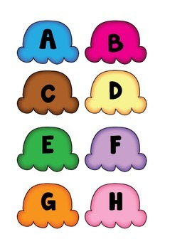 Ice Cream Alphabet Practice Activity