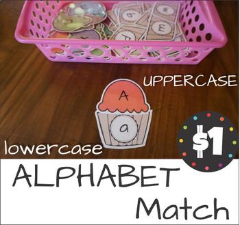 Ice Cream Alphabet Upper Lower Case Match V1