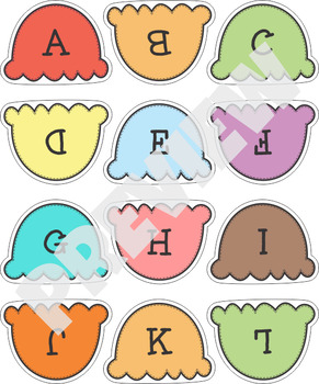 Ice Cream Alphabet Upper Lower Case Match V2