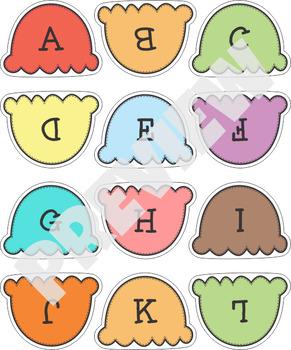 Alphabet Upper Lower Case Match Ice Cream V2