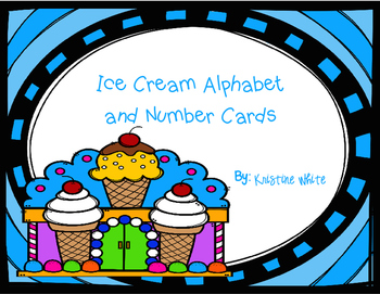 Ice Cream Alphabet and Number Cards