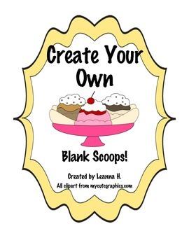 Ice Cream Articulation - Blank Scoops!