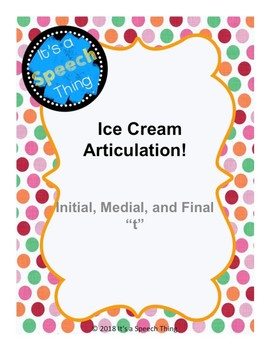 Ice Cream Articulation- Bundle
