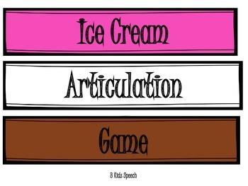 Ice Cream Articulation Game