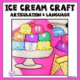 Summer Articulation and Language Ice Cream Craft