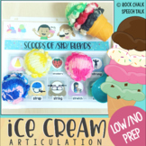 Ice Cream Articulation Speech Therapy No/Low Prep