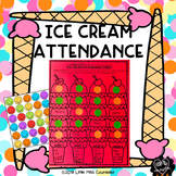 Ice Cream Attendance Editable Sheets:  Individual Student