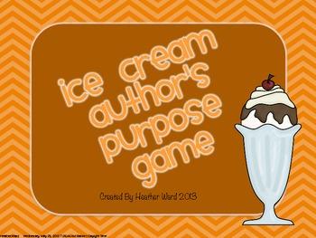 Ice Cream Author's Purpose Game