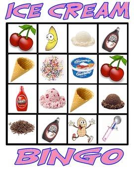 Ice Cream BINGO