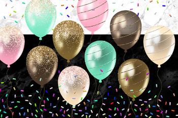 Ice Cream Balloons Clipart