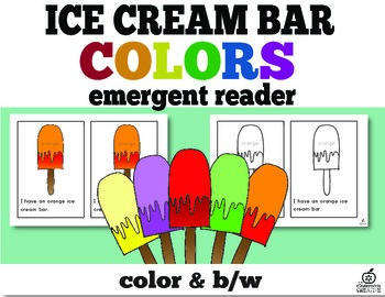 Color Emergent Reader: Ice Cream Bar Themed