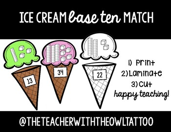 Ice Cream Base Ten Match