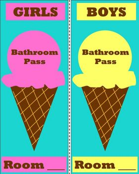 Ice Cream Bathroom Pass
