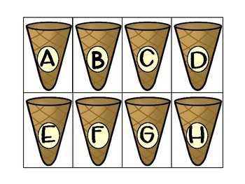 Ice Cream Beginning Sound Matching