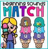 Ice Cream Beginning Sounds Match