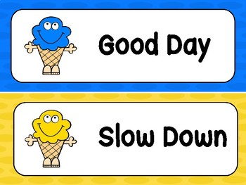 Ice Cream Behavior Clip Chart
