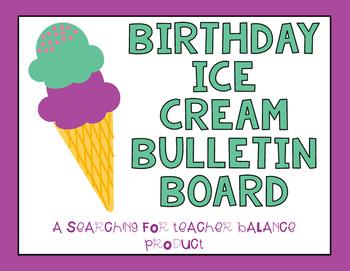 Ice Cream Birthday Board