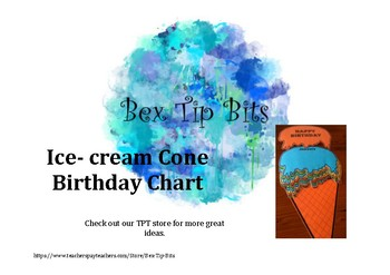 Ice-Cream Birthday Chart