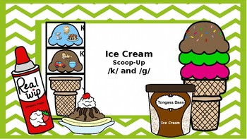 Ice Cream Builder: A /k/ and /g/ Articulation Game
