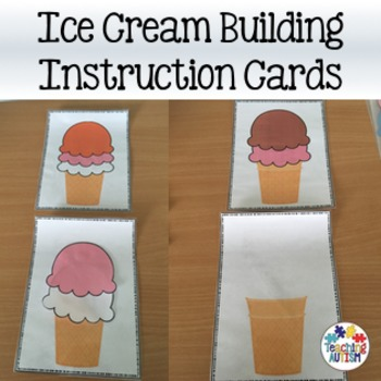 Ice Cream Building Instruction Following