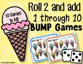 Ice Cream Bump Addition Games [Roll 2 and Add 1-10]
