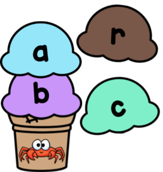 Ice Cream CCVC Word Building Activity