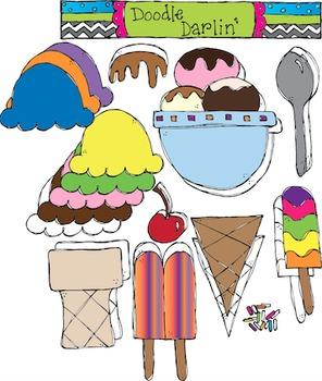 Ice Cream COMBO Clipart Set