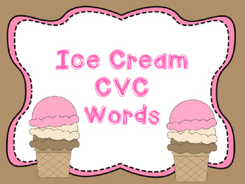 Ice Cream CVC Word Match