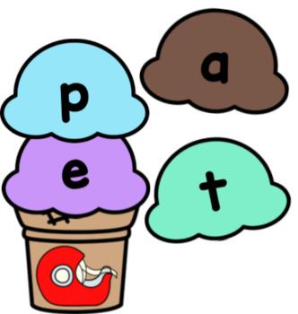 Ice Cream CVCE Word Building Activity