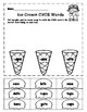 Ice Cream CVCE Word Family Match Packet