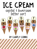 Ice Cream Capital and Lowercase Letter Alphabet Sort Begin