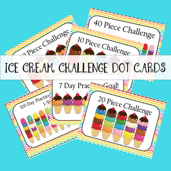 Ice Cream Challenge Dot Cards
