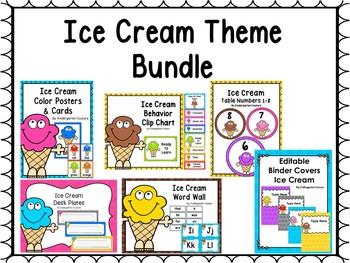 Ice Cream Classroom Decor Bundle