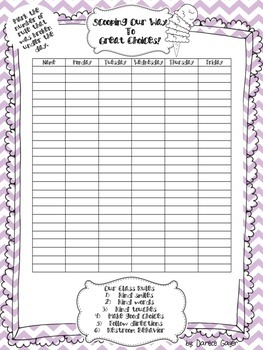 Ice Cream Classroom Management Packet