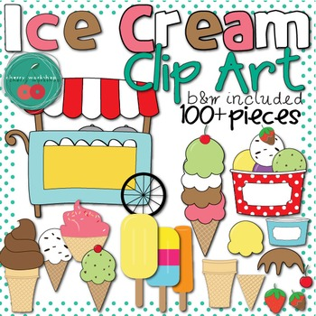 Ice Cream Clip Art {Commercial Use} Black and white ice cr