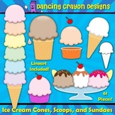 Ice Cream Clip Art: Create Your Own Ice Cream - Clipart Set