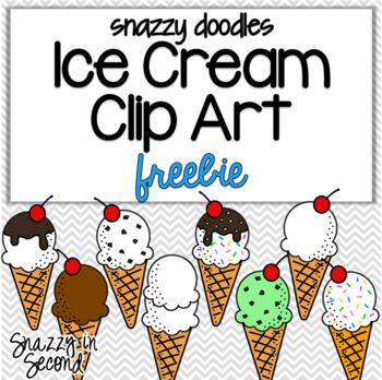 Ice Cream Clip Art {Snazzy Doodles}